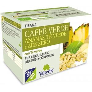 Tisana Caffè verde ananas tè verde e zenzero 30g VALVERBE