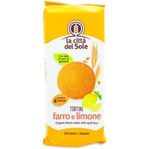 Tortine di Farro al Limone 180g La Città del Sole