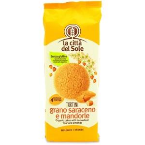 Tortini di grano saraceno alle mandorle 4x45g LA CITTA DEL SOLE