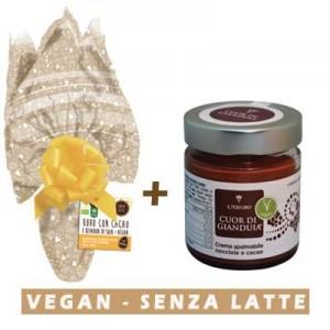 Uovo di Pasqua con cioccolato al latte di soia + Colomba Vegan