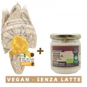 Uovo di Pasqua Vegan cioccolato con bevanda di soia + Crema spalmabile bianca Vegan