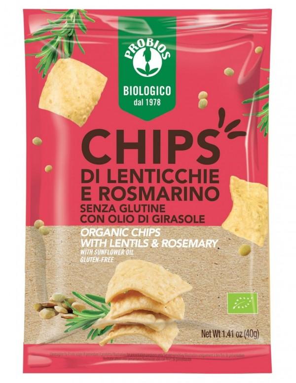 Chips di lenticchie al rosmarino 40g Probios