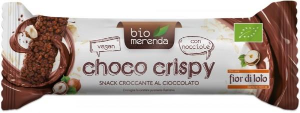 Choco Crispy barretta di riso soffiato, cacao e nocciola 15gr Fior di Loto