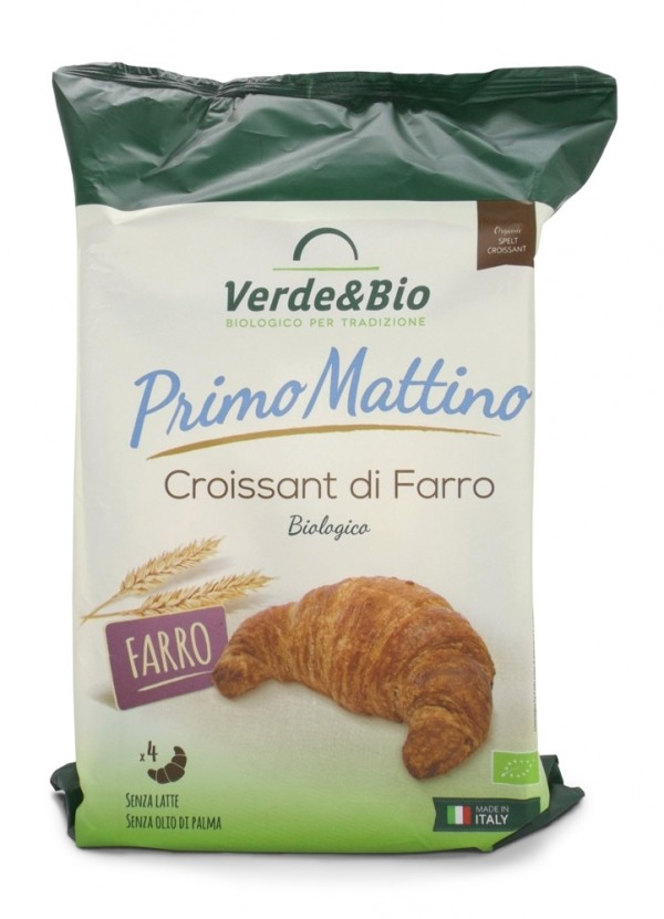 Croissant vegano di farro con olio di girasole e burro di karité 160g VERDE&BIO