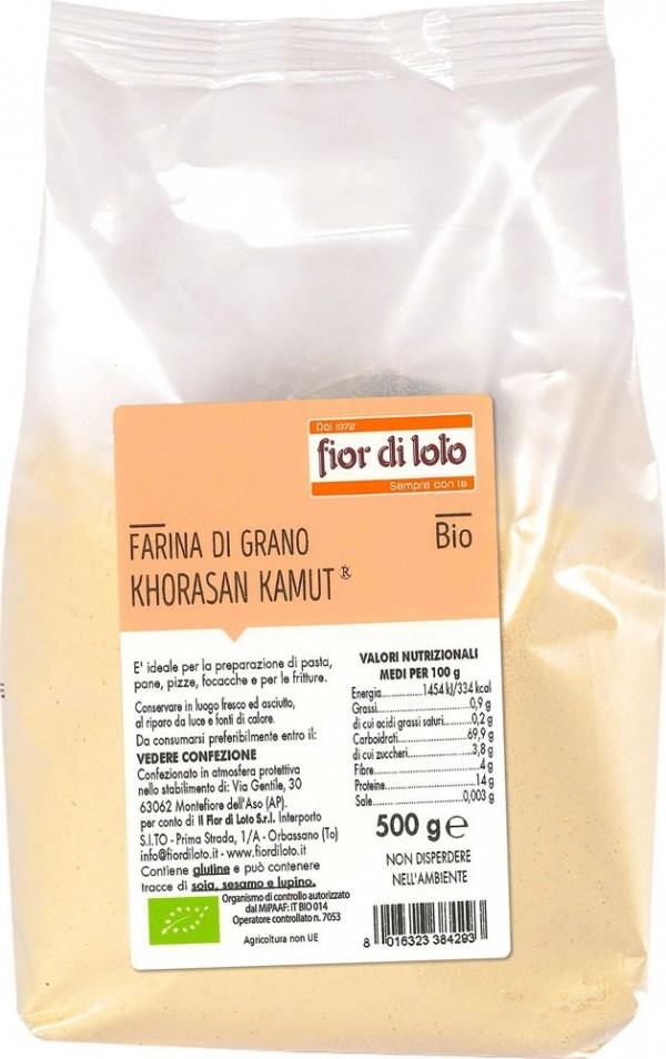 Farina di grano khorasan kamut® 500g Fior di Loto