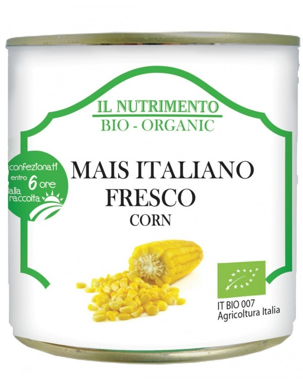 Mais Italiano Fresco in latta 340g Il Nutrimento
