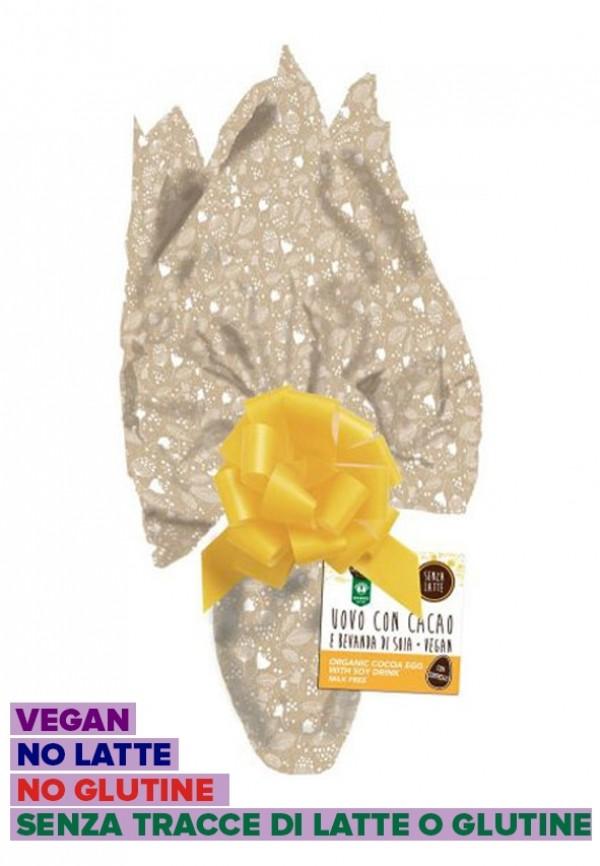 Uovo di Pasqua Vegan senza latte con cioccolato al latte di soia senza glutine 200g Probios