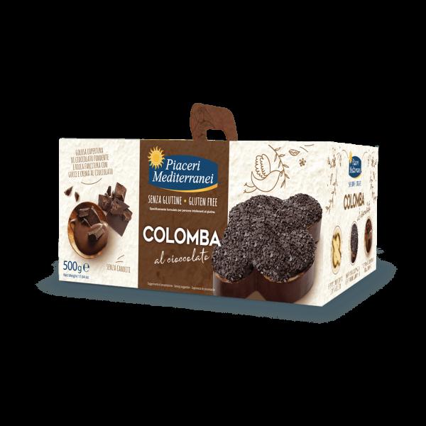 Colomba al Cioccolato senza glutine 500g Piaceri Mediterranei