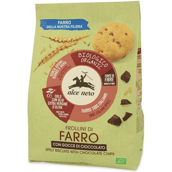 Frollini di Farro con Gocce di Cacao 250gr Alce Nero