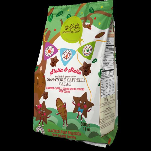Stella&stello biscotti grano cappell akrux® cacao 300g SOTTOLESTELLE