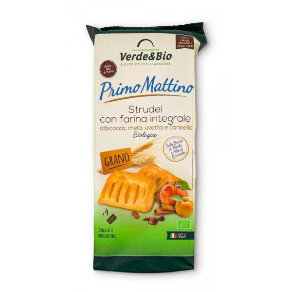 Strudel Vegano con Farina Integrale Albicocca Mela Uvetta e Cannella 200g Verde&Bio