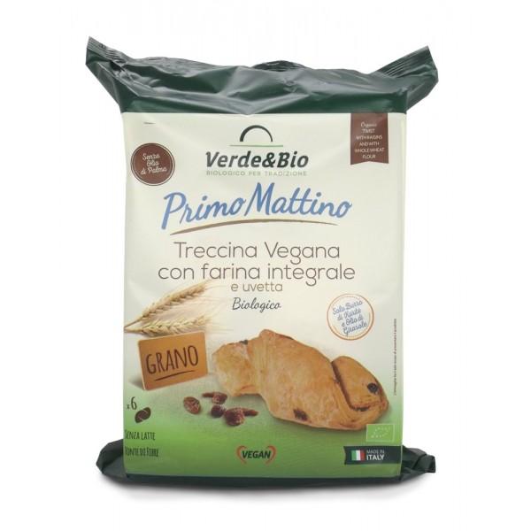 Treccina Vegana di Farina Integrale con Uvetta 240g Verde&Bio