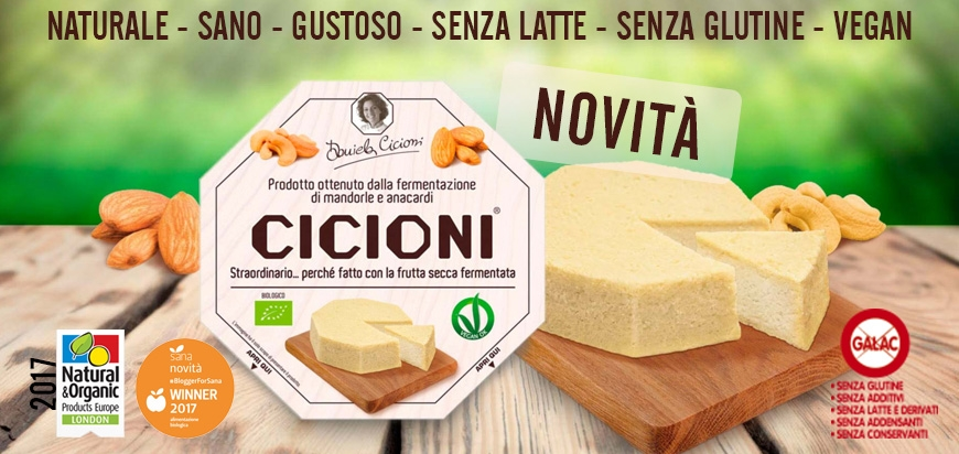 Cicioni formaggio vegano anacardi mandorle